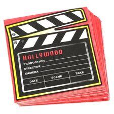 16 Novelty Movie Clapper Napkins Birthday Tableware Party Supply Hollywood Decor