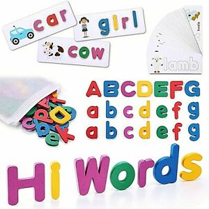 Kids Toys See and Spell Flash Cards Spelling Games Learning Toys for 2+ Year Old