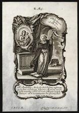 santino incisione 1700 S.ANTONINO PIEROZZI ARC. DI FIRENZE   klauber