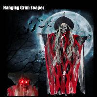 Halloween Hanging Grim Skeleton Skull Ghost Ghoul Horror Decor Ghastly   !1 !!A
