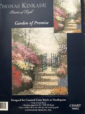 Candamar Designs Thomas Kinkade Counted Cross Stitch GARDEN OF PROMISE~Chart