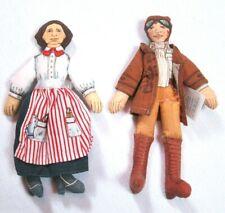 2 Hallmark Amelia Earhart & Clara Barton Collectible Dolls 1979 Famous Americans