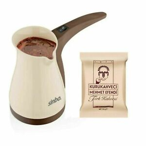 Electric Greek Turkish Coffee Machine Espresso Maker With 100gr Coffee As Gift