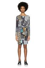 4c6f50d503 Desigual Natty Dress Long Sleeved Mix Print Flattering XS-XXL UK 8-18 RRP