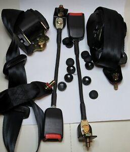 Classique Fiat 500/ 126/ Mini Siège Avant Ceinture 3 Point Automatique Kit Noir