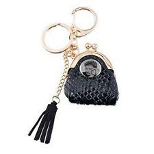 bijoux de sac,porte clés,sky noir,imitation peau serpent, pompon noir , johnny h