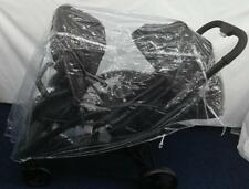 UNIVERSAL DOUBLE TWIN/ TANDEM RAINCOVER ( RAIN COVER ) PUSHCHAIR Front Back pram