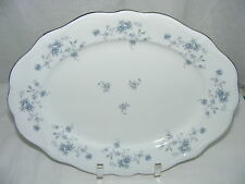 "Vintage Johann Haviland China Bavaria Germany Blue Garland 12"" Oval Meat Platter"