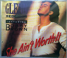 "GLENN MEDEIROS & BOBBY BROWN ""She Ain't Worth It"" 4-Track Maxi-CD METRONOME 1990"