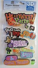 Paper House Halloween party   dimensional stickers