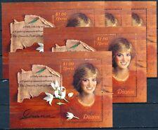 [366] Liberia Lady Diana 5x good Sheet very fine MNH
