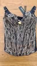 BNWT ladies black lacy corset basque from Debenhams. 32E          1/9