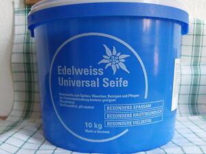 (EUR 2,67/kg)Edelweiss Universalseife, Neutralseife,pH-neutral Azett 10kg.Eimer