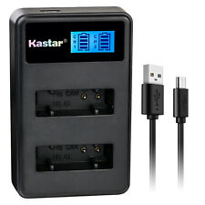 Kastar Battery LCD Dual Charger for Canon NB-6L CB-2LY Canon PowerShot SX260 HS