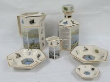 More details for pointers of london pair of the scottish wildlife decanter, jugs & trays c1333