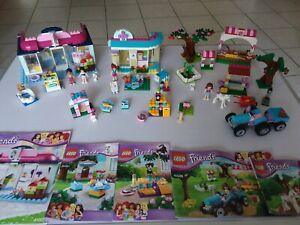 Lot Lego Friends 41007 + 41085 + 41026 + 41026 + 41003 en très bon état