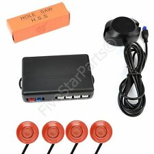 Reverse rear parking sensors KIT (4) with Buzzer audio alarm ORANGE