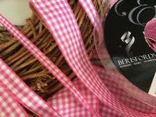 Berisfords Gingham Ribbon Choose Shade and Width Per Metre *FREE 1ST CLASS POST*