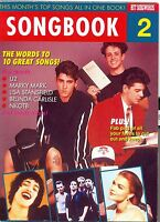 Songbook 2 Australian pop song-words U2 Prince Extreme New kids on the block
