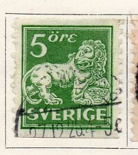 Sweden 1920-25 Early Issue Fine Used 5ore.  118387