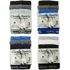 3 & 6 Pack Mens Boxers Shorts Classics Sports Comfort Fit Underwear Briefs