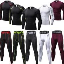 Men's Quick-dry Compression T shirts  Athletic Base Layers Fitness Sports Pants