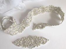 Rhinestone Applique rich SET (2 items)+Belt 90 cm long! Only 1 SET,Free P&P