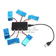 6PCS 3.7V 850mAh Batteries+Charger For RC Quadcopter Syma X5SW X5SC X5SC-1 b01