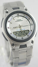Casio AW-80D-7AV White Databank Watch Steel Band World Time 10 Year Battery New