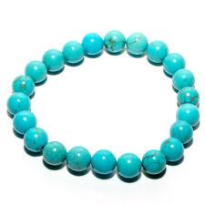 Bracelet en pierres naturelles perles de turquoise teintée de 8 mm