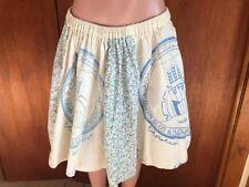 Rare and unique Flour Feed Sack Farm Skirt. Saudi Arabia Grain Silos and flour