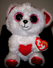 """Ty Beanie Boos ~ CUDDLY BEAR the 6"""" Stuffed Plush Toy ~ 2016 NEW with MINT TAGS"""