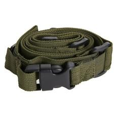 Tactical 3 Point Adjustable Bungee Rifle Sling Swivels System (Green)