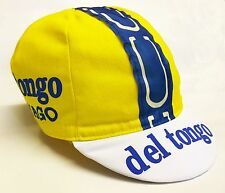 DEL TONGO COLNAGO Retrò CICLISMO BIKE CAP-VINTAGE-attrezzi fissi-MADE IN ITALY
