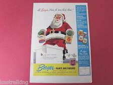 Santa Berger Paints Original Full page Advertisement