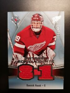 15-16 Upper Deck Ultimate Dominik Hasek Material Achievements MA-HA #18/99