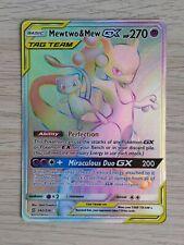 Pokemon Unified Minds SM11 MEWTWO & MEW SECRET RARE GX 242/236 MINT