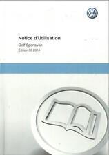 VW Golf SPORTSVAN Notice d´Utilisation 2014 Bedienungsanleitung Manuel BA