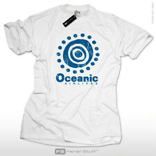 Oceanic Airlines für LOST Serie Fans Kult T-Shirt Dharma Initiative Fun