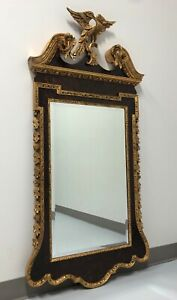 LABARGE Federal Style Mahogany & Gold Gilt Beveled Eagle Mirror