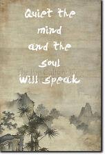 "ZEN QUOTE POSTER 8 ""Quiet the mind..."" PHOTO PRINT BUDDHISM MOTIVATION"