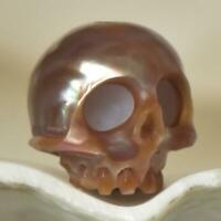 11.66 mm Human Skull Bead Carving Kasumi Freshwater Pearl 1.95 g drilled 2.5 mm