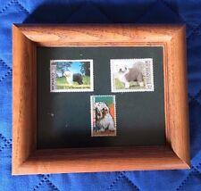 Custom Framed Old English Sheepdog Sheep Dog Stamps