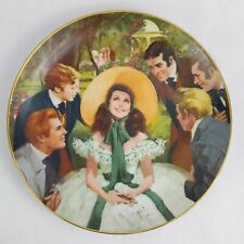1988 50th Anniversary Gone with the Wind Scarlett & Her Suitors Plate 1st Issue