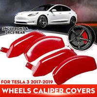 4x Car Caliper Covers Wheels Disc Front Rear Aluminum For Tesla Model3