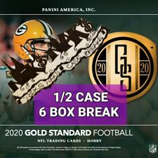 NEW ENGLAND PATRIOTS 2020 GOLD STANDARD FOOTBALL 1/2 CASE 6 BOX BREAK #2