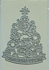 Merry Christmas Die 9 x 12cms Tree Shaped Goodies Theme VGC
