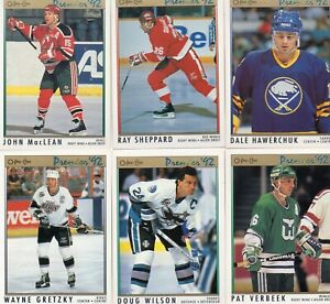 1991-92 O-Pee-Chee Premier Complete Set #1-198