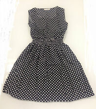 Women's Polka Dot Black & White Dress - Size S/M