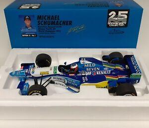Model Car Scale 1:12 MINICHAMPS F1 Benetton Renault Schumacher 1995 Diecast